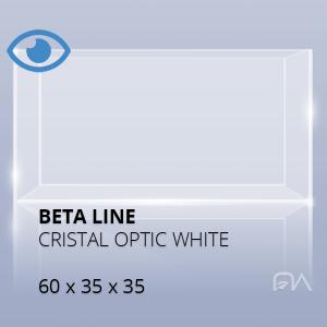 Acuario BETA LINE Cristal óptico de 60x35x35