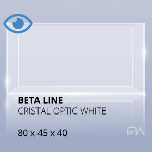 Acuario BETA LINE Cristal óptico de 80x45x40