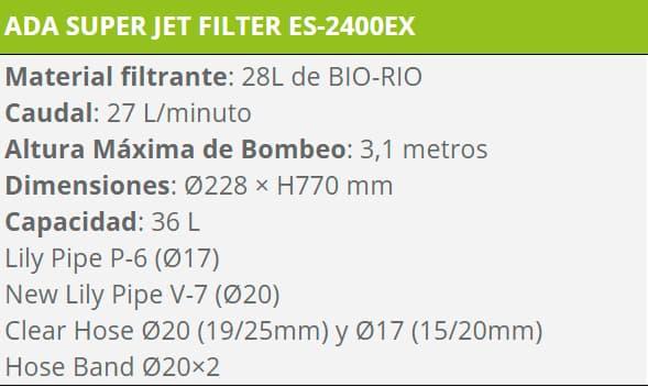 FILTRO ES 2400 EX