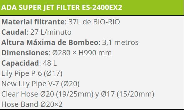 FILTRO ES 2400 EX 2