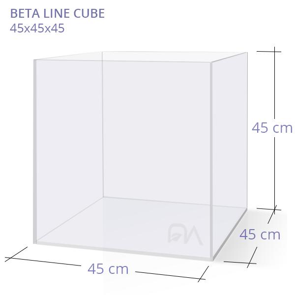 Acuario BETA LINE CUBE 45x45x45