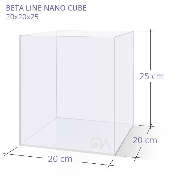 Acuario BETA LINE NANO CUBE 20x20x25