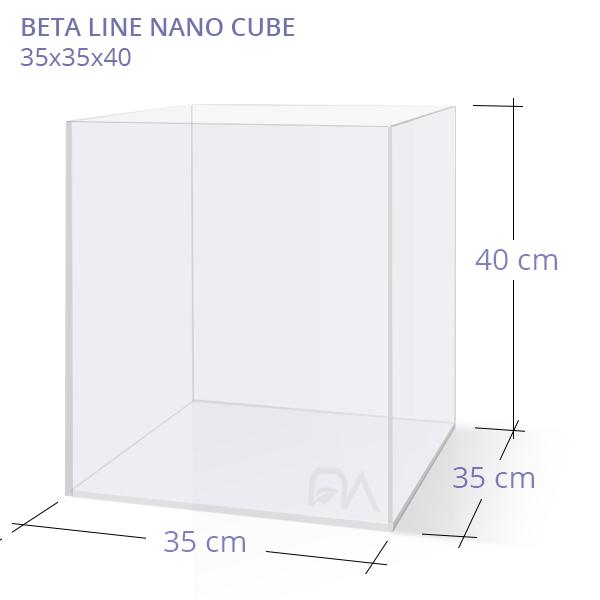 Acuario BETA LINE NANO CUBE 35x35x40