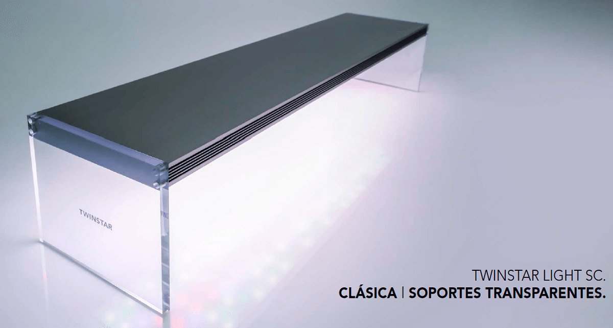 Twinstar Light SC Clásica con soportes transparentes