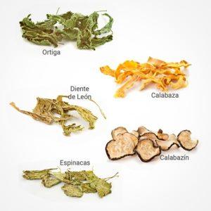 Verduras y hojas de vegetales HG GOODS para acuarios con gambas