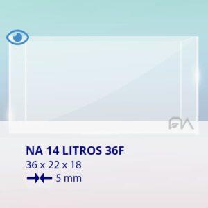 ACUARIO NA 36F de 36x22x18 cristal óptico