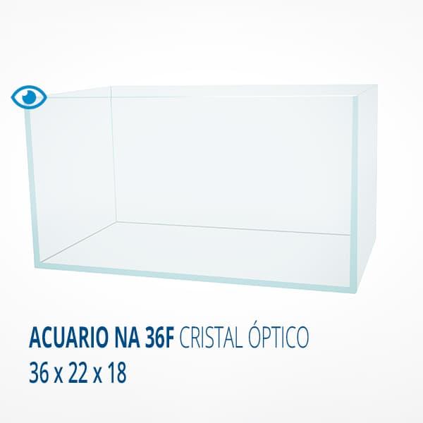 ACUARIO NA 36F CRISTAL OPTICO 36X22X18