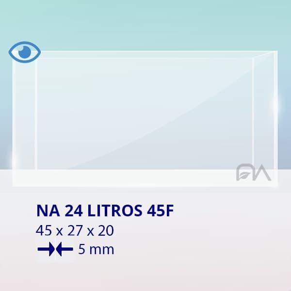 ACUARIO NA 45F de 45x27x20 cristal óptico