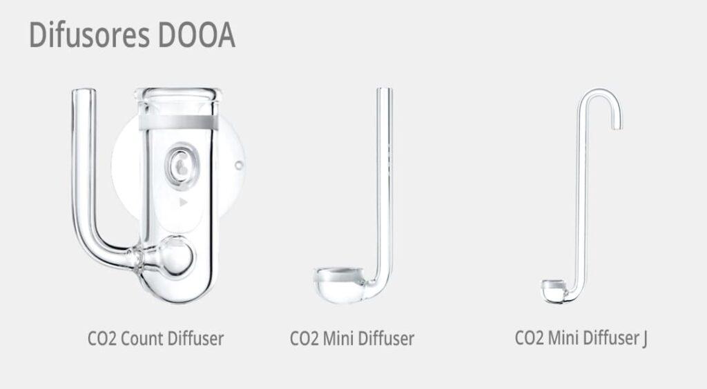 Difusores de CO2 de la marca DOOA, ideales para la Hydrocotyle Verticillata