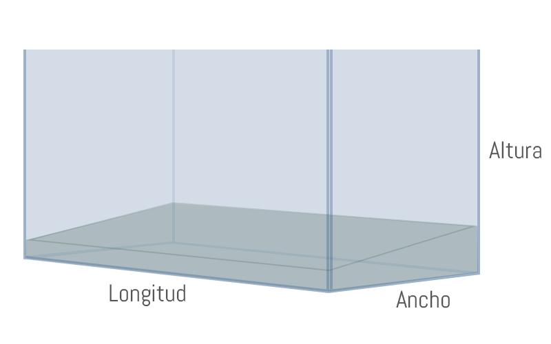 Colocar el sustrato más alto en la zona trasera del acuario.