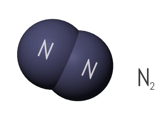 molécula de nitrógeno