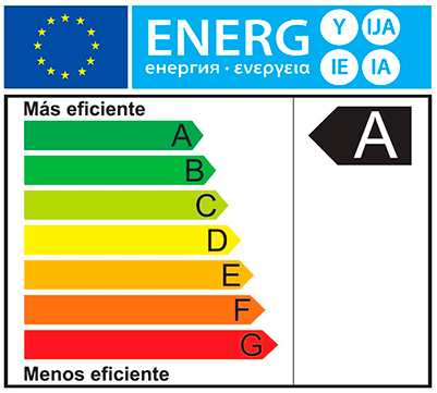 Etiqueta de eficiencia energética TIPO A