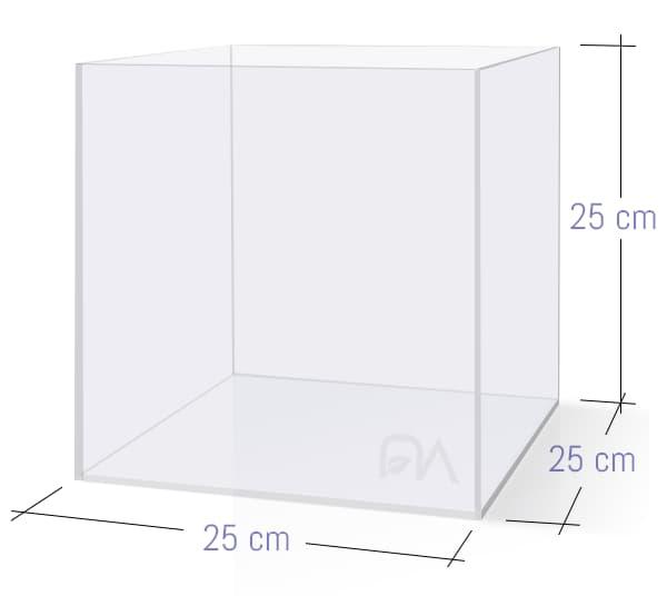 ACUARIO NA 25N de 25x25x25 cristal óptico