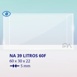 ACUARIO NA 60F de 60x30x22 cristal óptico