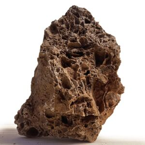 Comprar online roca para acuarios de color rojo ( ocre). Se trata de roca volcánica muy porosa. Su nombre comercial es ROCA VOLCANICA OCHRE STONE
