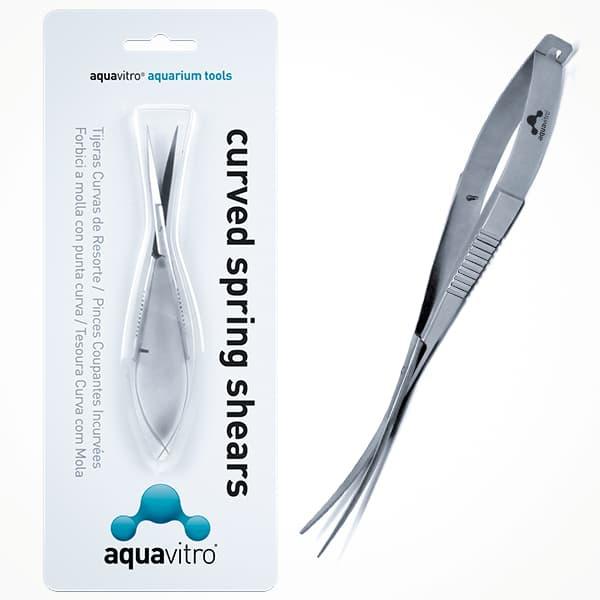 Comprar online tijeras curvas de resorte para acuarios plantados. AQUAVITRO.