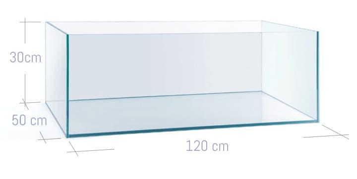 ACUARIO NA 120F de 120x50x30 cristal óptico