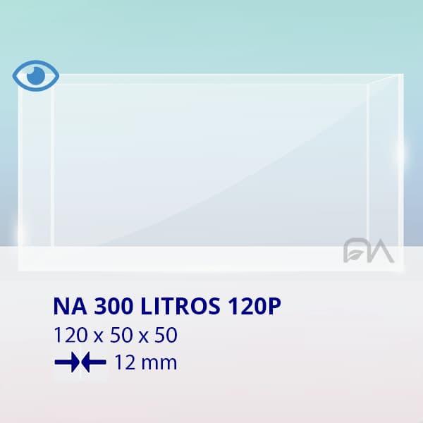 ACUARIO NA 120P de 120x50x50 cristal óptico