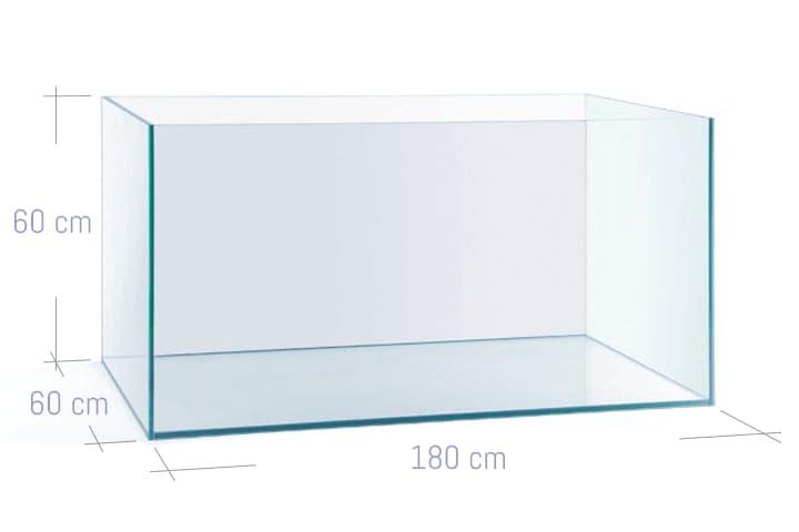ACUARIO NA 180P de 180x60x60 cristal óptico