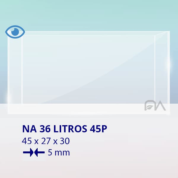 ACUARIO NA 45P de 45x27x30 cristal óptico