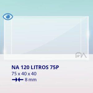 ACUARIO NA 75P de 75x40x40 cristal óptico