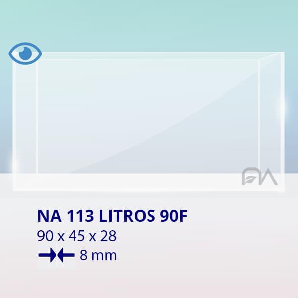 ACUARIO NA 90F de 90x45x28 cristal óptico