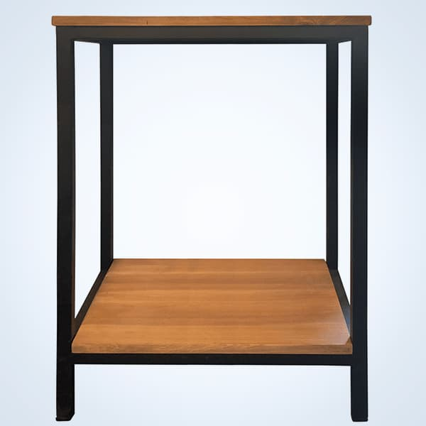 Mesa para soporte de acuarios fabricada en metal y madera. tiene unas medidas de 65x36x77