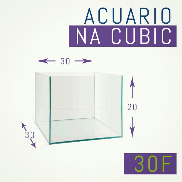 Acuario de cristal óptico 20 x 20 x 16