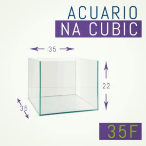 Acuario de cristal óptico 35 x 35 x 22