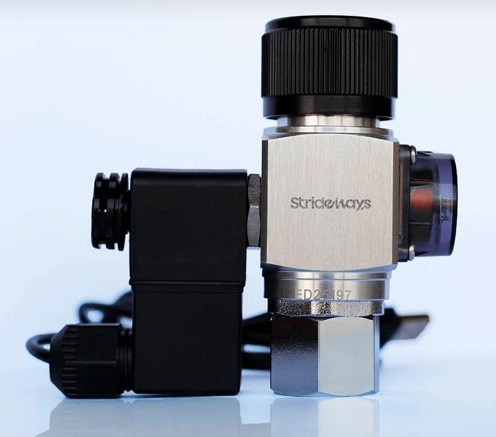 Electroválvula solenoide incluida en el manorreductor de CO2.