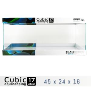 BLAU CUBIC AQUASCAPING 17 de 45x24x16 con cristal óptico, al mejor precio en nascapers, tu tienda de acuariofilia y aquascaping.