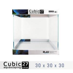 BLAU CUBIC AQUASCAPING 27 de 30x30x30 con cristal óptico, al mejor precio en nascapers, tu tienda de acuariofilia y aquascaping.