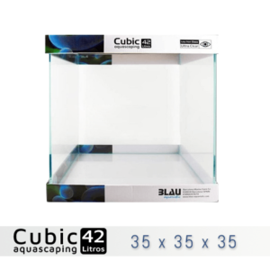 BLAU CUBIC AQUASCAPING 42 de 35x35x35 con cristal óptico, al mejor precio en nascapers, tu tienda de acuariofilia y aquascaping.