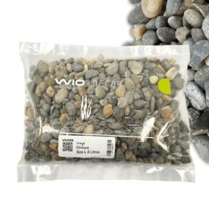 Grava para acuarios WIO STREAM GRAVEL de granulometría L 20-40 mm bolsa de 8 Litros