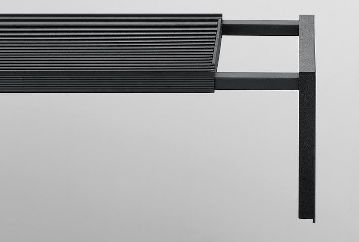 Detalle de la pantalla CHIHIROS WRGB 2 SLIM 90 con patas extensibles.